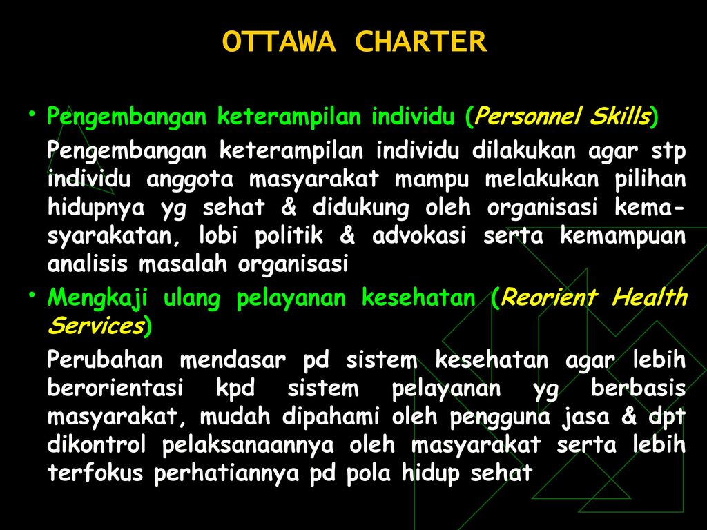 substance abuse ottawa charter