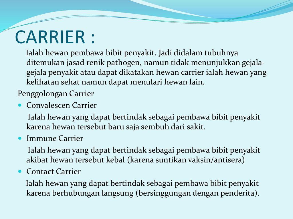 carrier immunities