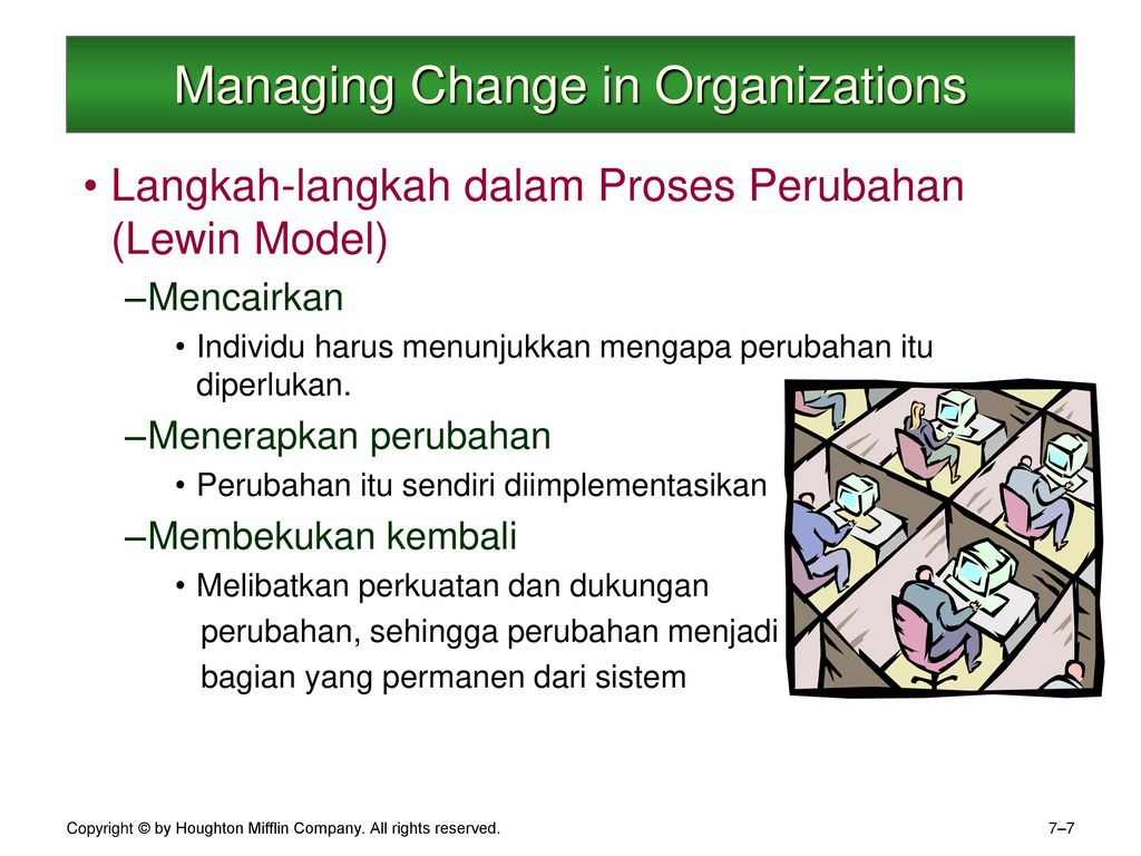 managing change in organizations Leaders who create change and those who manage it: how leaders limit success 133 in their organizations, learning about positive outcomes and barriers to previous change.