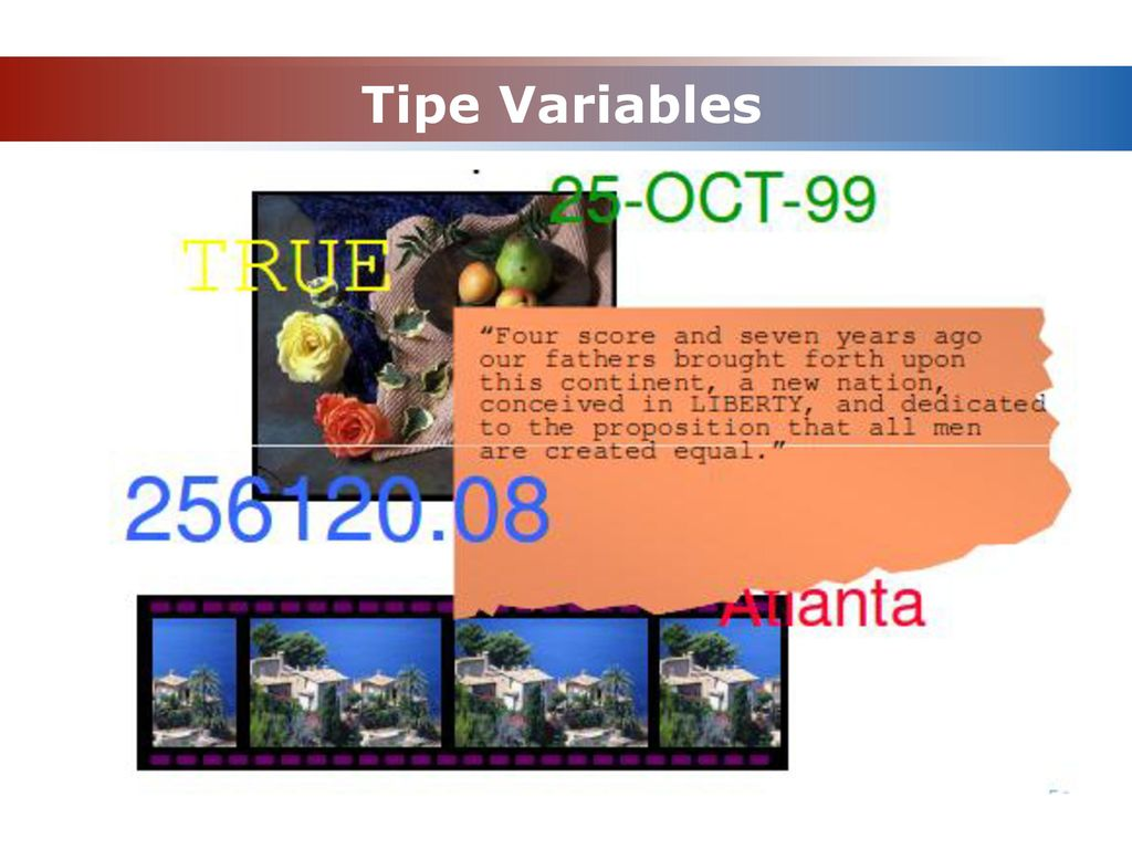Tipe Variables