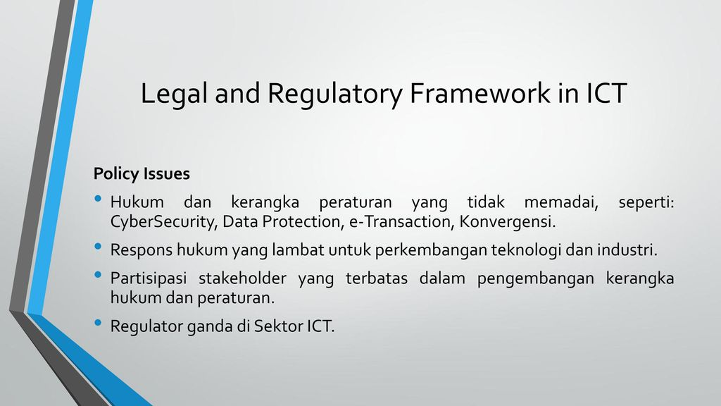 the legal and regulatory framework for