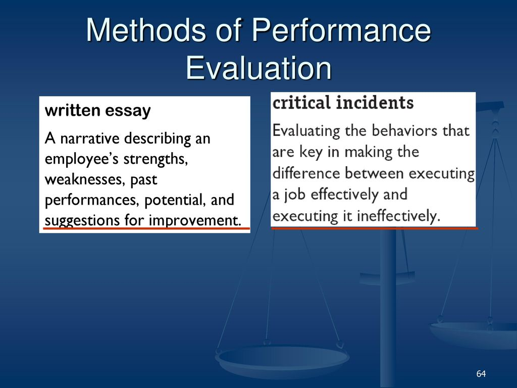 performance evaluations essay