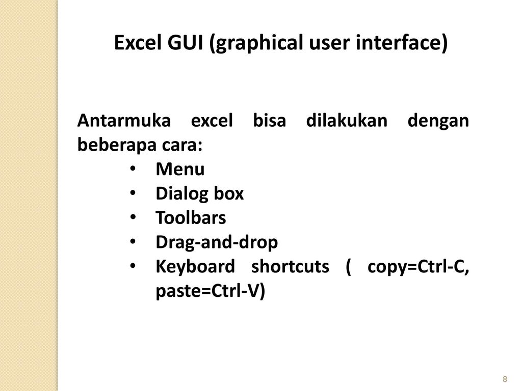 graphical user interface and dialog box