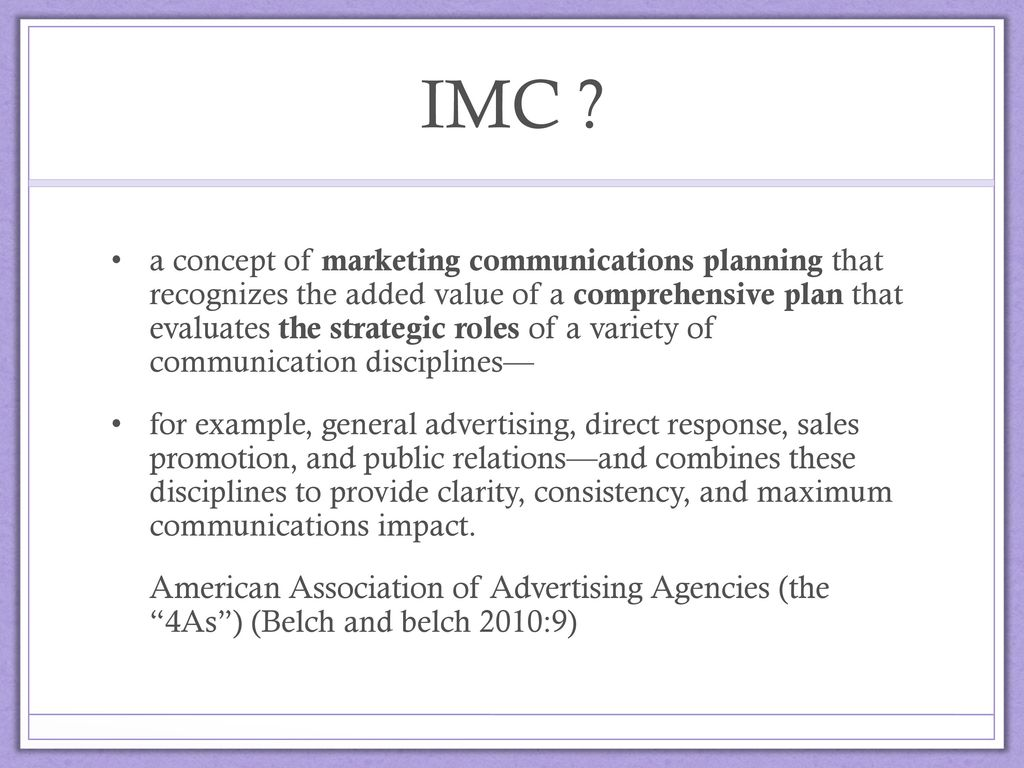 imc plan essay Buy an essay today question integrated marketing communications (imc) plan prepare a1,200- to 1,600-word imc plan based on the product or service selected in the learning team product and market identification paper in week 2.