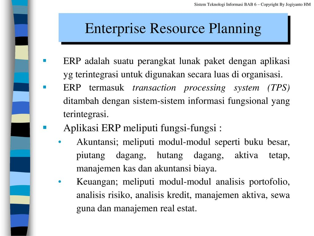 enterprise resource planning and transaction processing