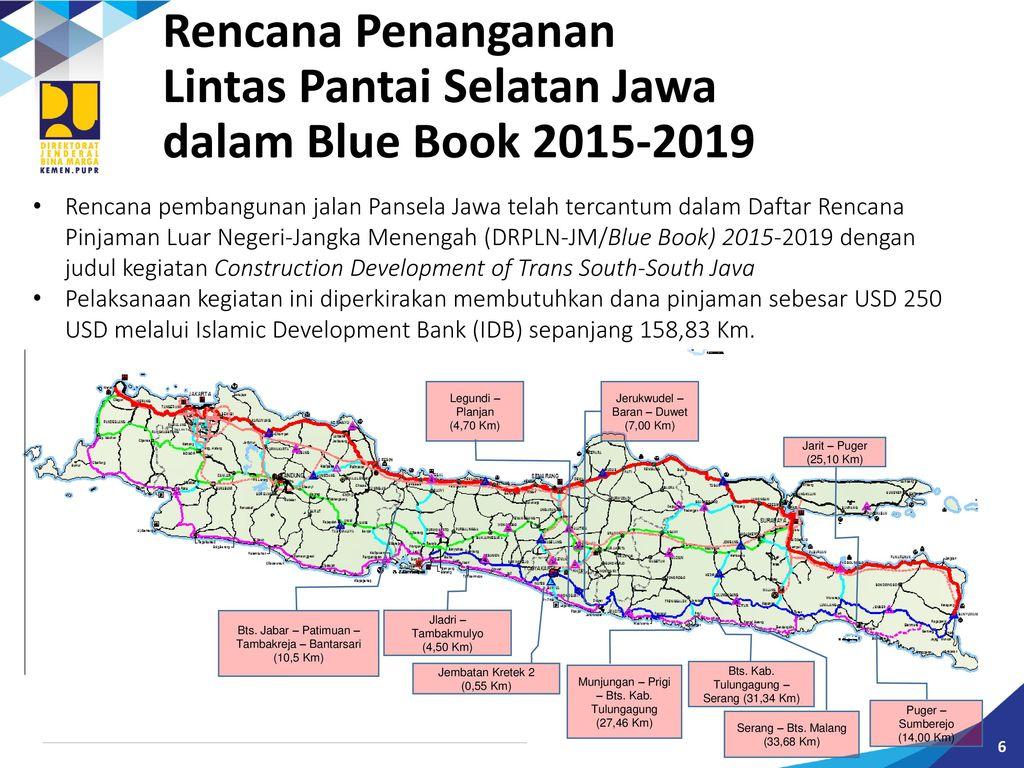 Lintas Pantai Selatan Jawa dalam Blue Book 2015-2019