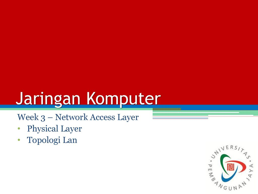 Week 3 – Network Access Layer Physical Layer Topologi Lan