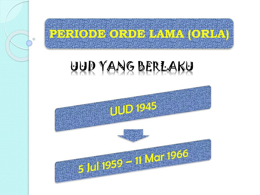 PERIODE ORDE LAMA (ORLA)