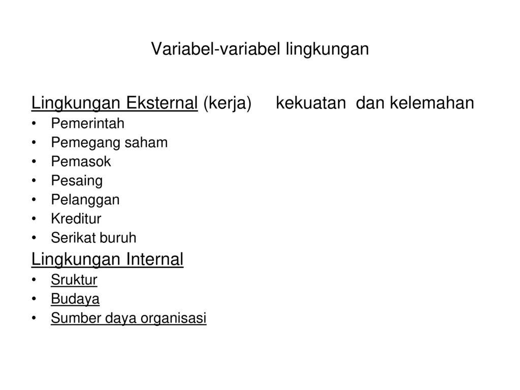 Manajemen strategis referensi jojj 1 pearce and robinsons j 59 variabel variabel lingkungan ccuart Gallery