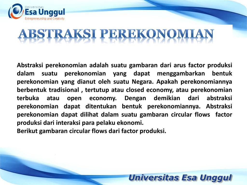 Ilmu ekonomi ppt download 6 abstraksi perekonomian ccuart Choice Image