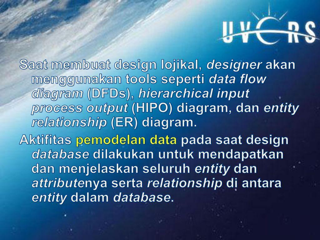 Perancangan basis data ppt download saat membuat design lojikal designer akan menggunakan tools seperti data flow diagram dfds ccuart Image collections