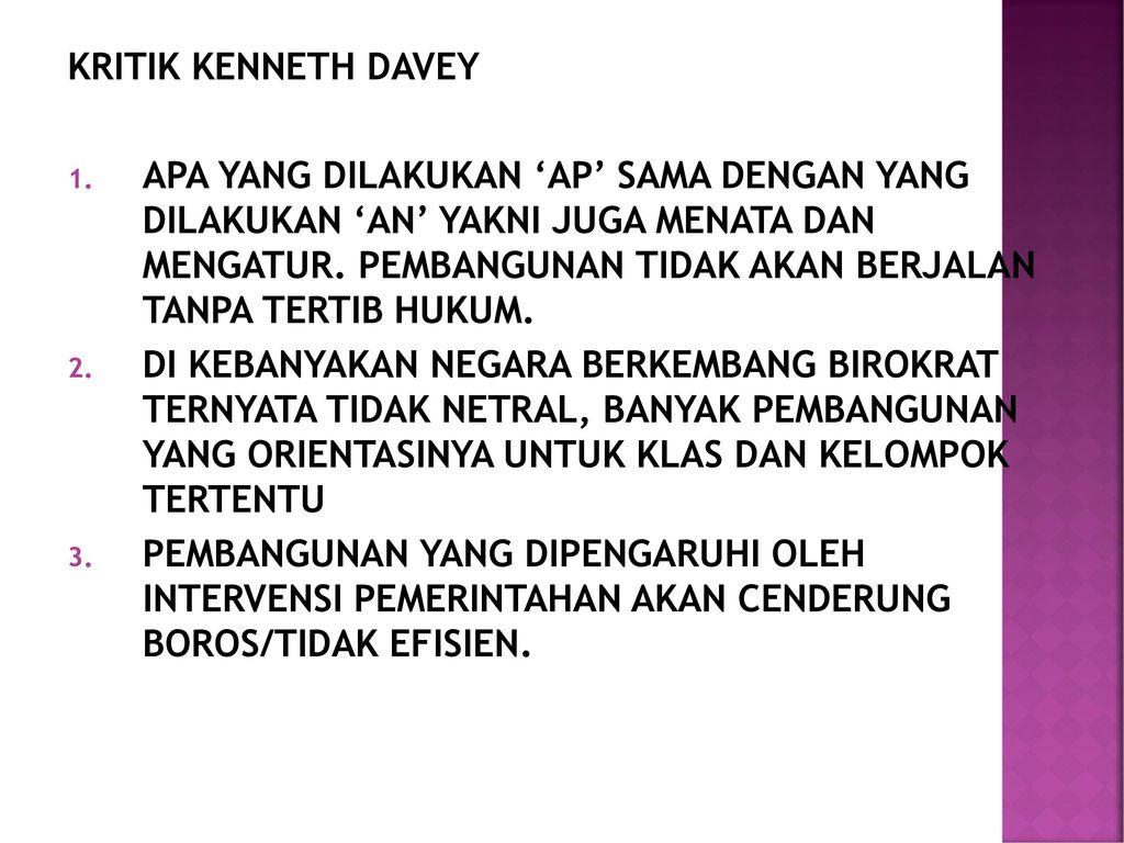 KRITIK KENNETH DAVEY