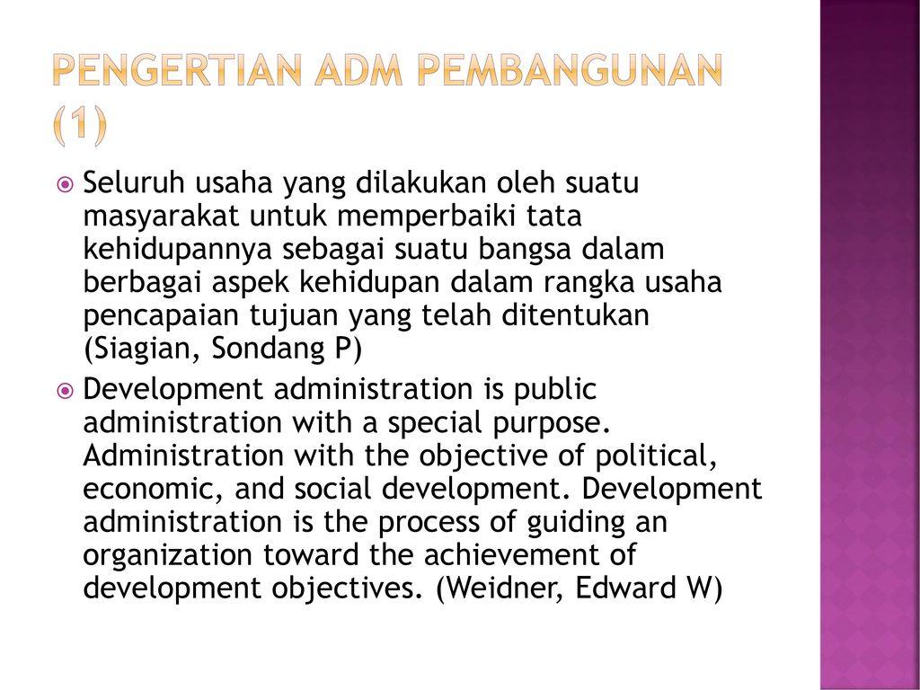 Pengertian Adm Pembangunan (1)