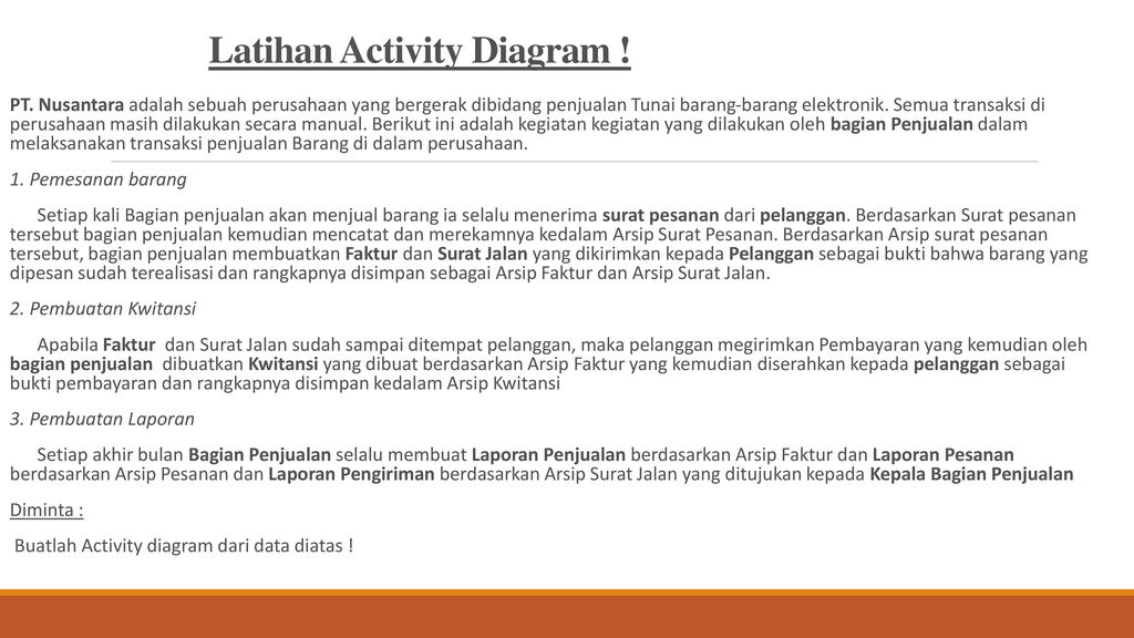 Rekayasa perangkat lunak activity sequence diagram ppt download latihan activity diagram ccuart Images