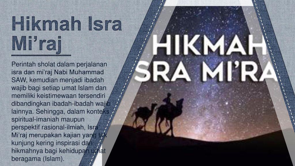 Hikmah Isra Mi'raj