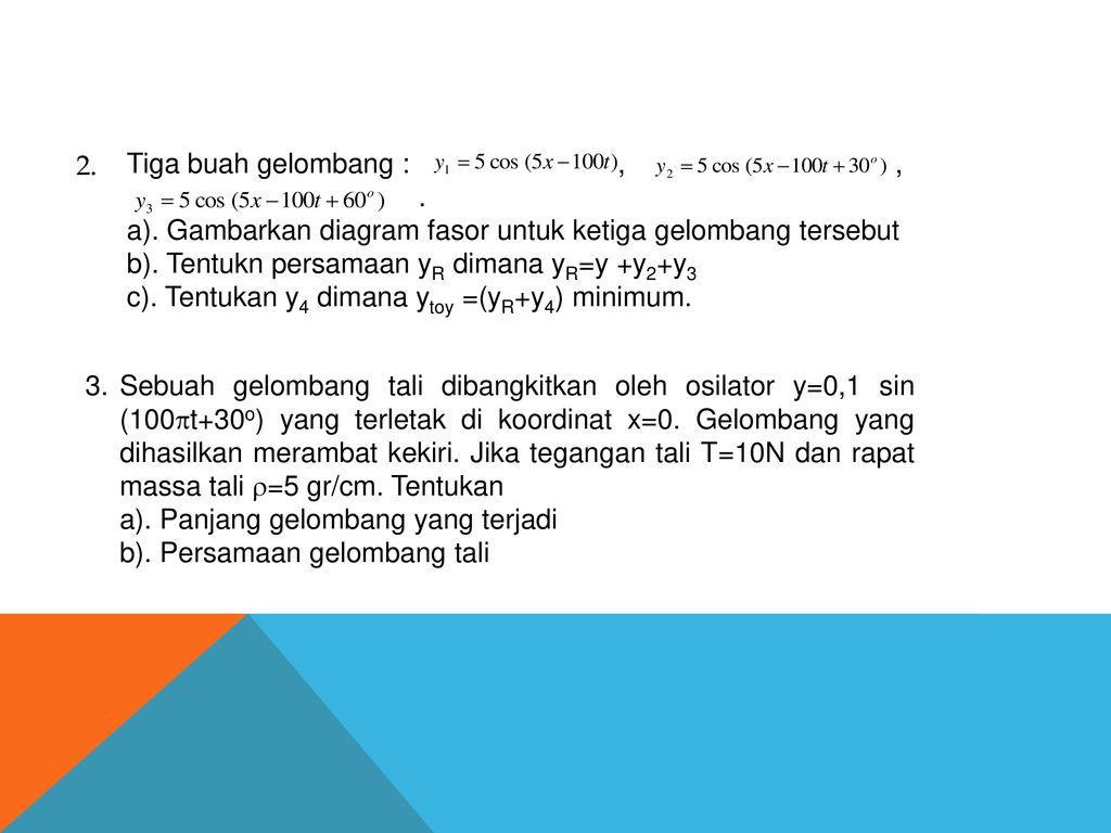 Materi fisika sma nama sony yunior erlangga nim ppt download tiga buah gelombang ccuart Images