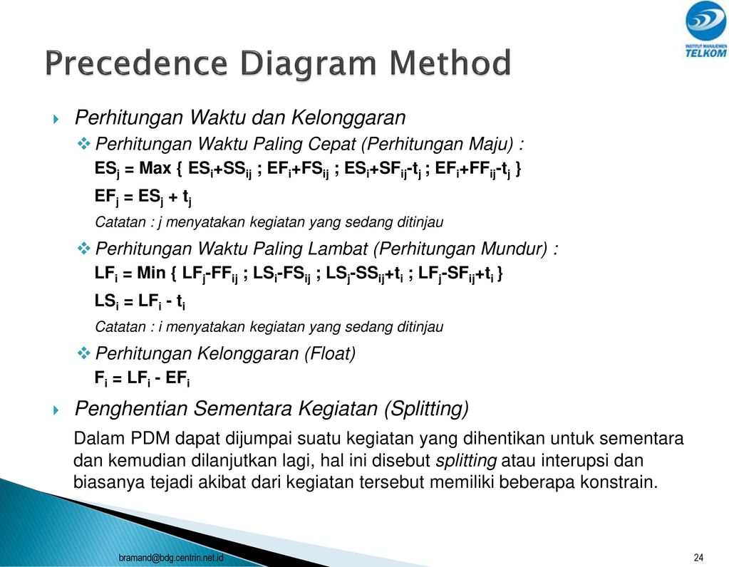 Perencanaan proyek modul 3 ppt download precedence diagram method ccuart Image collections