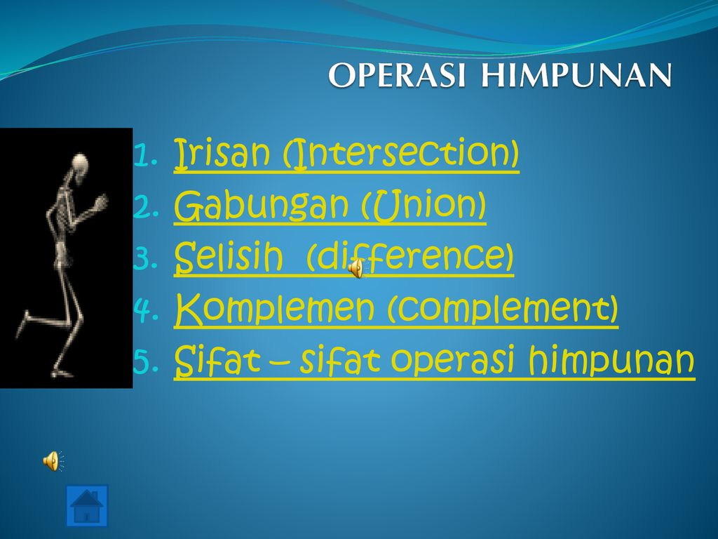 OPERASI HIMPUNAN Irisan (Intersection) Gabungan (Union)