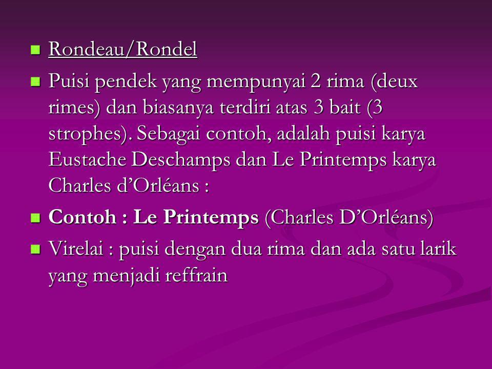 Rondeau/Rondel