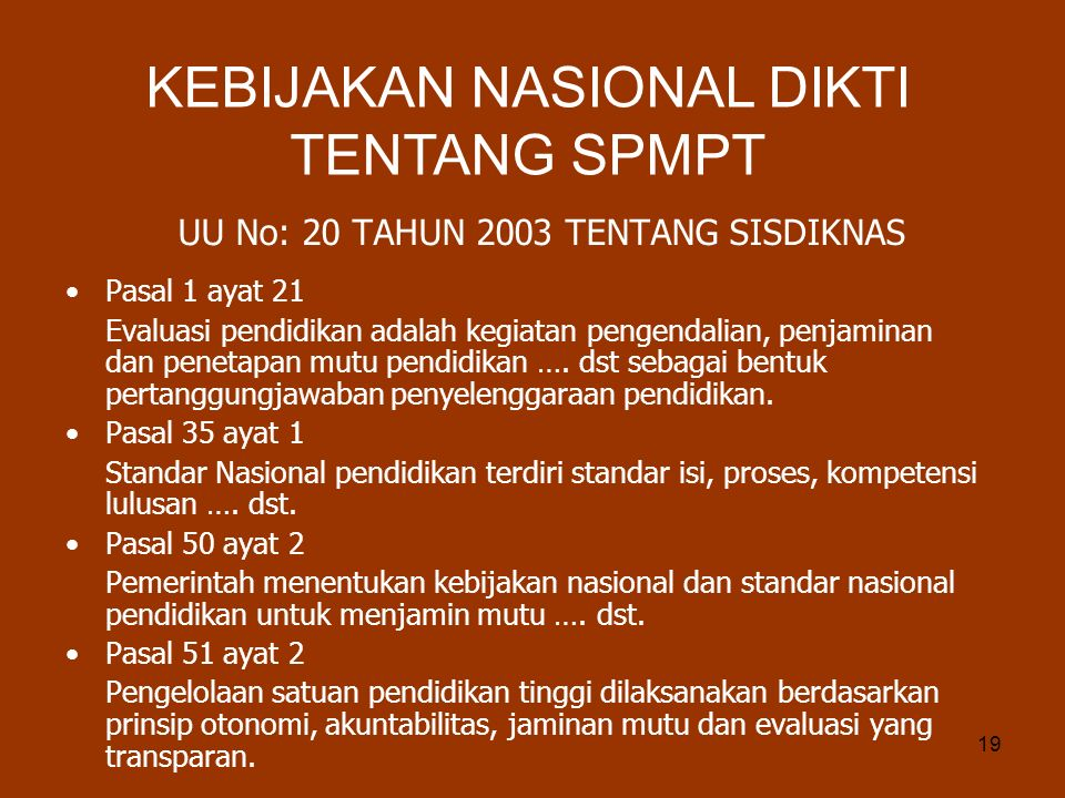 UU No: 20 TAHUN 2003 TENTANG SISDIKNAS