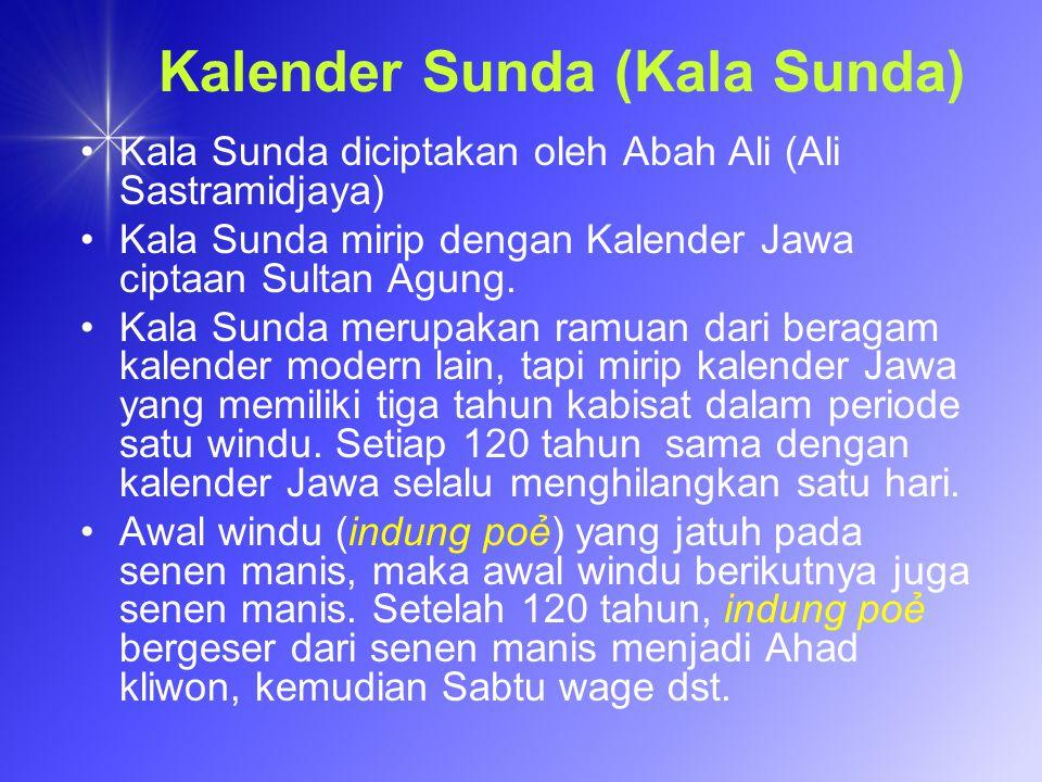 Kalender Sunda (Kala Sunda)