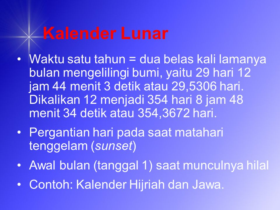 Kalender Lunar