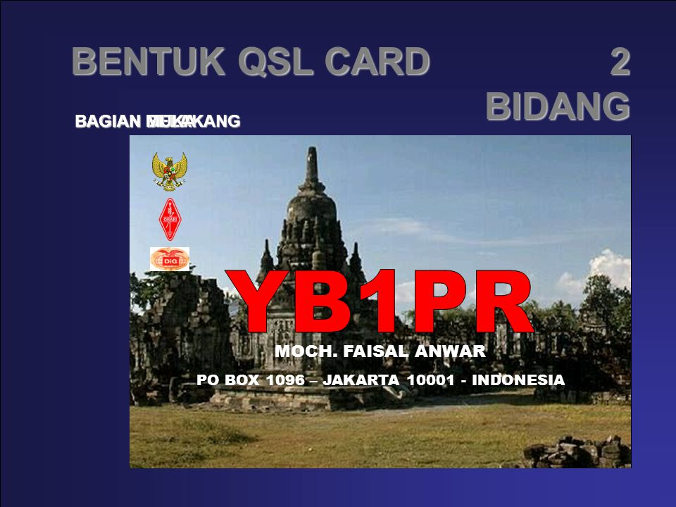 PO BOX 1096 – JAKARTA 10001 - INDONESIA
