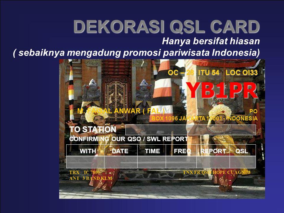 DEKORASI QSL CARD