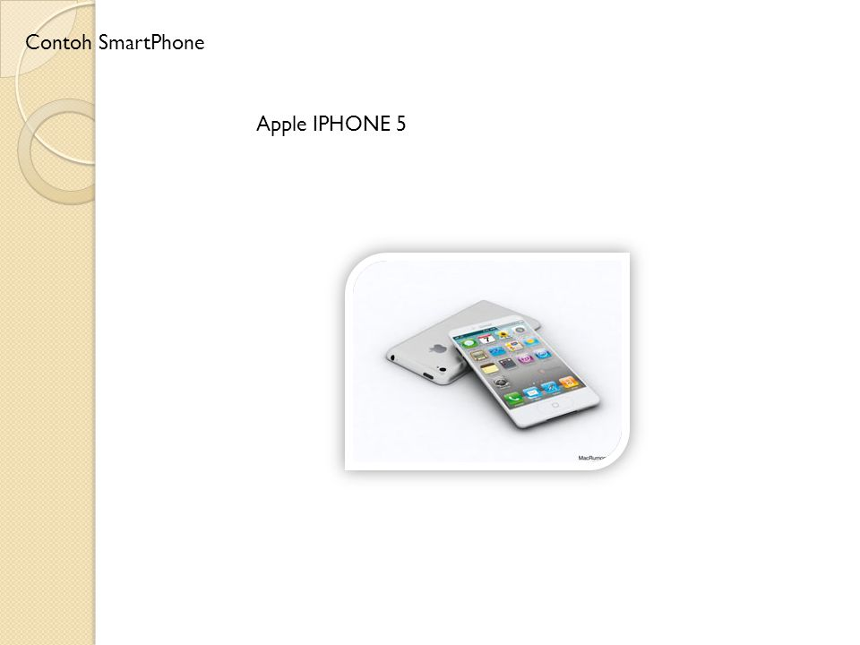 Contoh SmartPhone Apple IPHONE 5