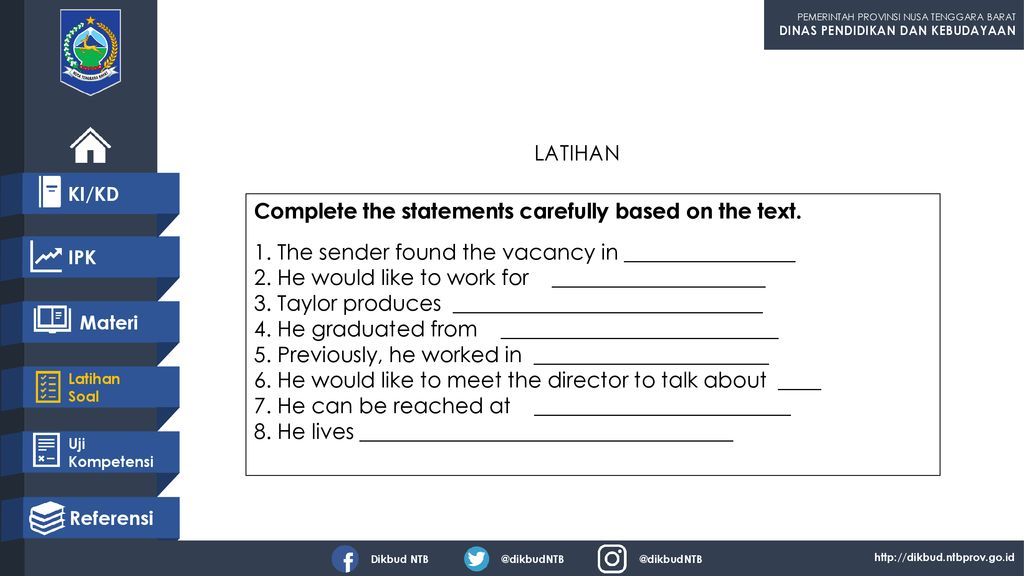 Complete the statements carefully based on the text.