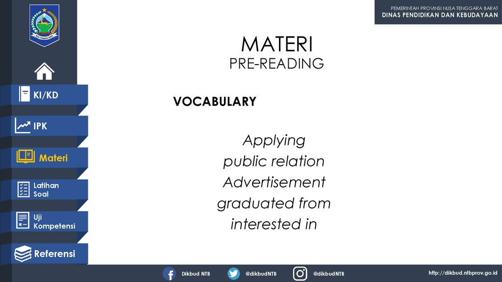 MATERI PRE-READING Applying public relation Advertisement