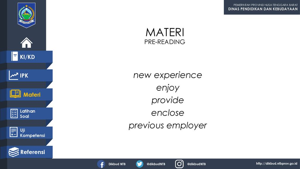 new experience enjoy provide enclose previous employer