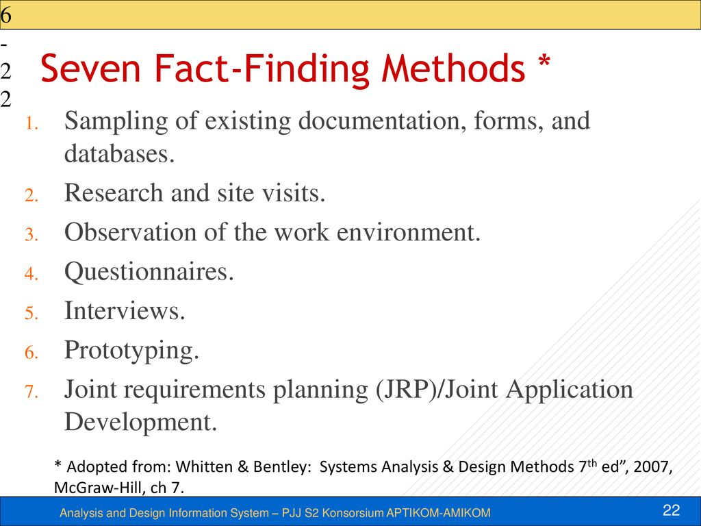 Week 3 4 System Analysis Process Requirement Discovery Ppt Download