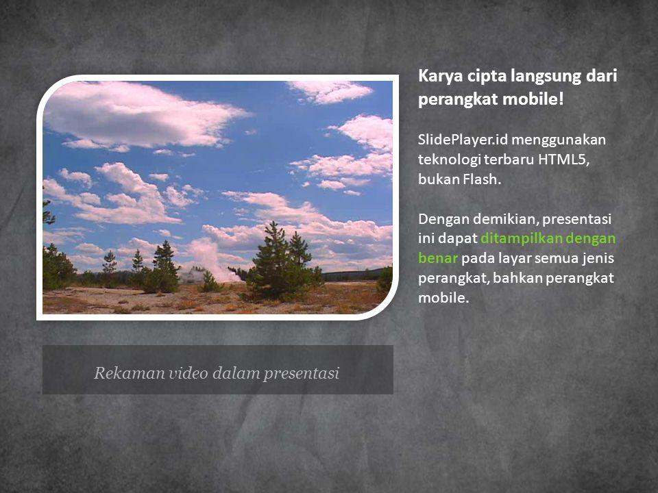 Rekaman video dalam presentasi
