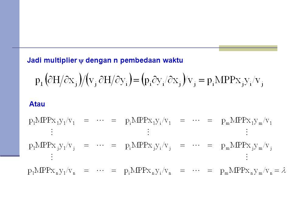 Jadi multiplier  dengan n pembedaan waktu