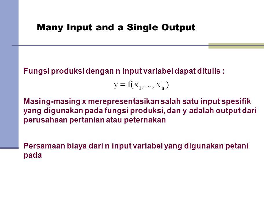Many Input and a Single Output