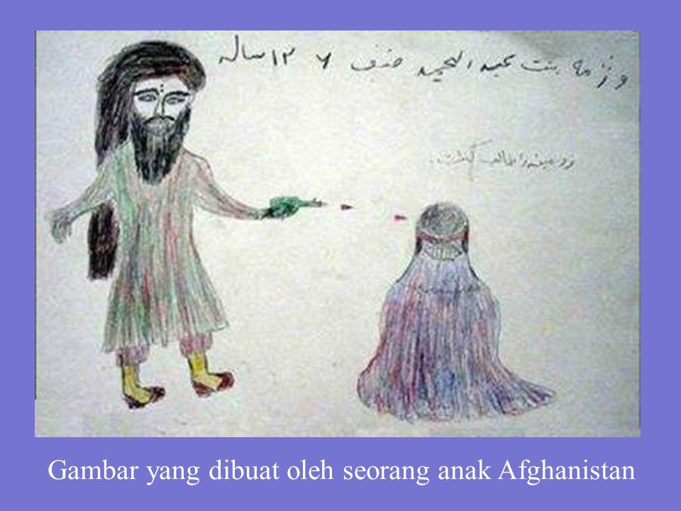 Gambar yang dibuat oleh seorang anak Afghanistan