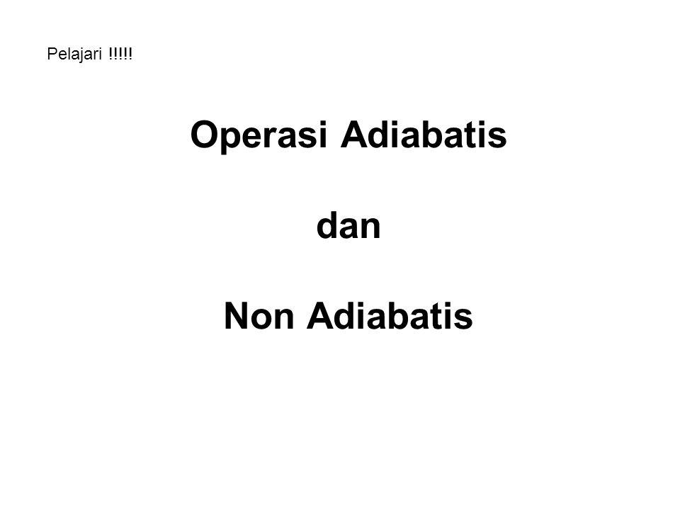 Operasi Adiabatis dan Non Adiabatis