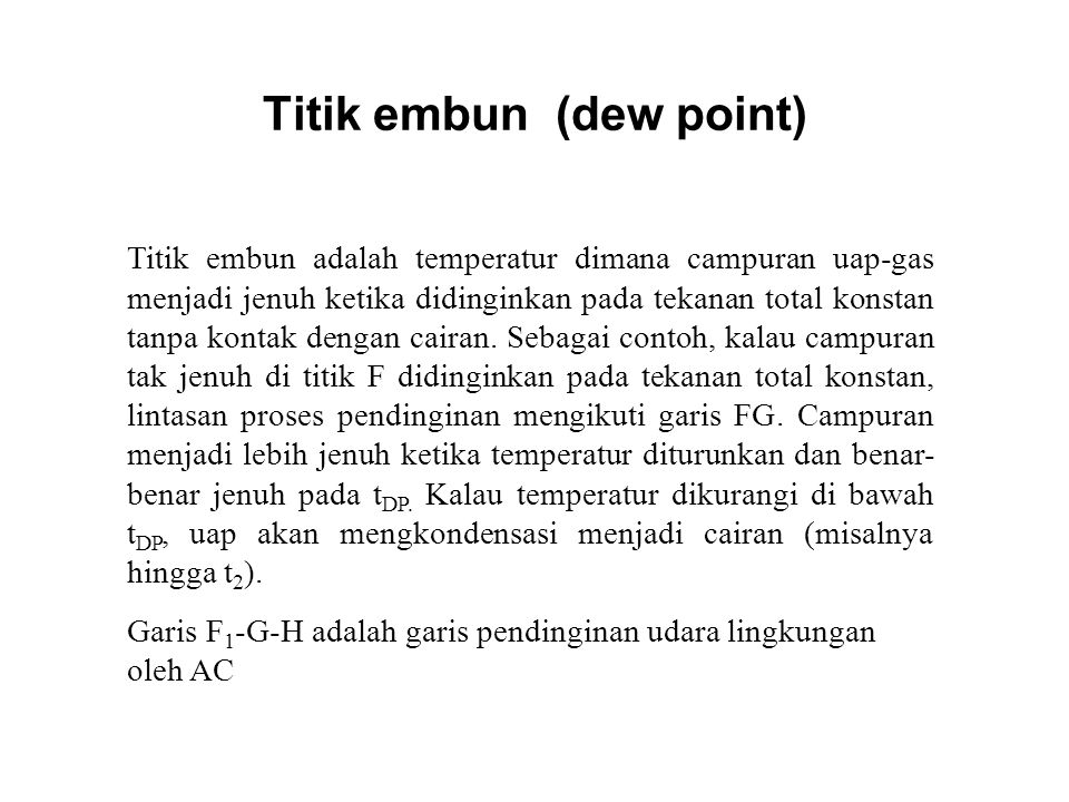 Titik embun (dew point)