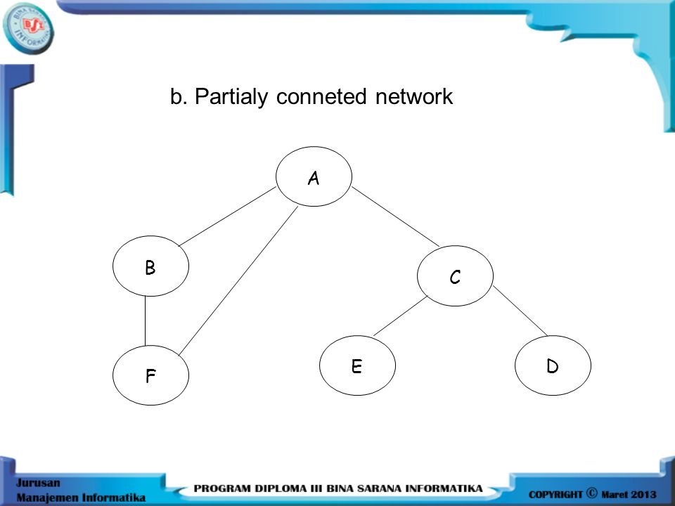 b. Partialy conneted network