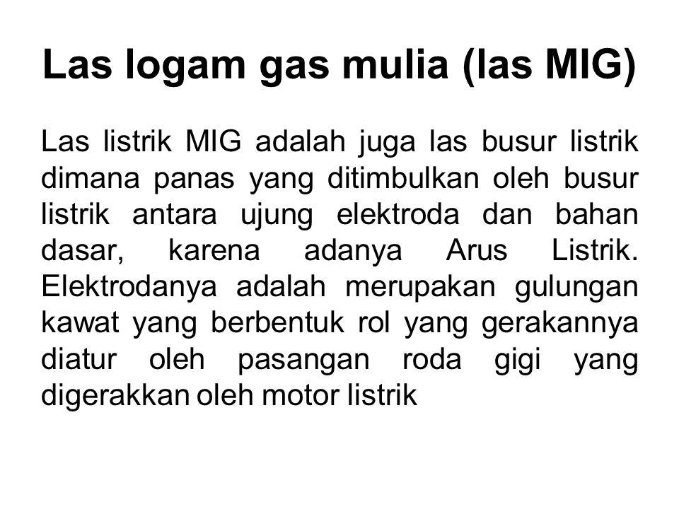 Las logam gas mulia (las MIG)