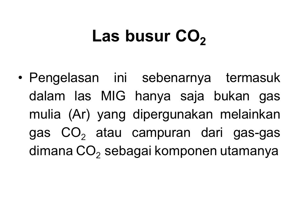 Las busur CO2