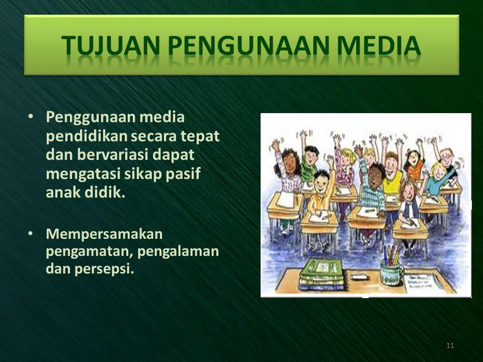 Tujuan Pengunaan Media