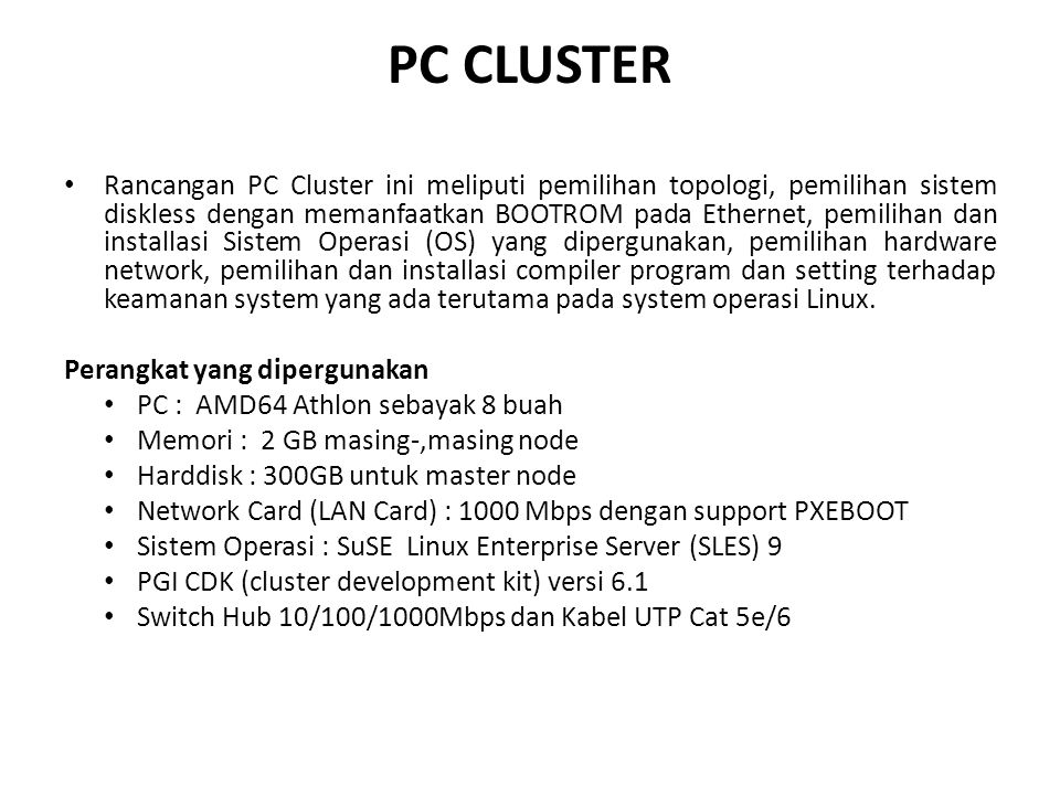 PC CLUSTER