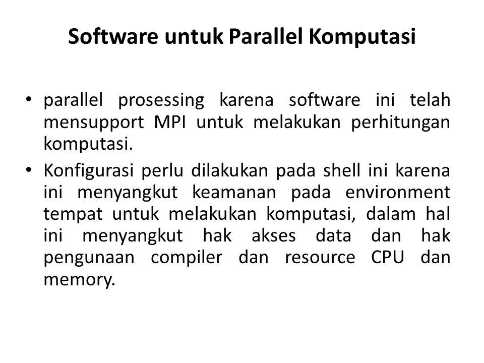 Software untuk Parallel Komputasi