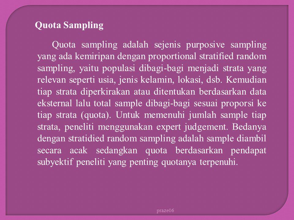Quota Sampling.