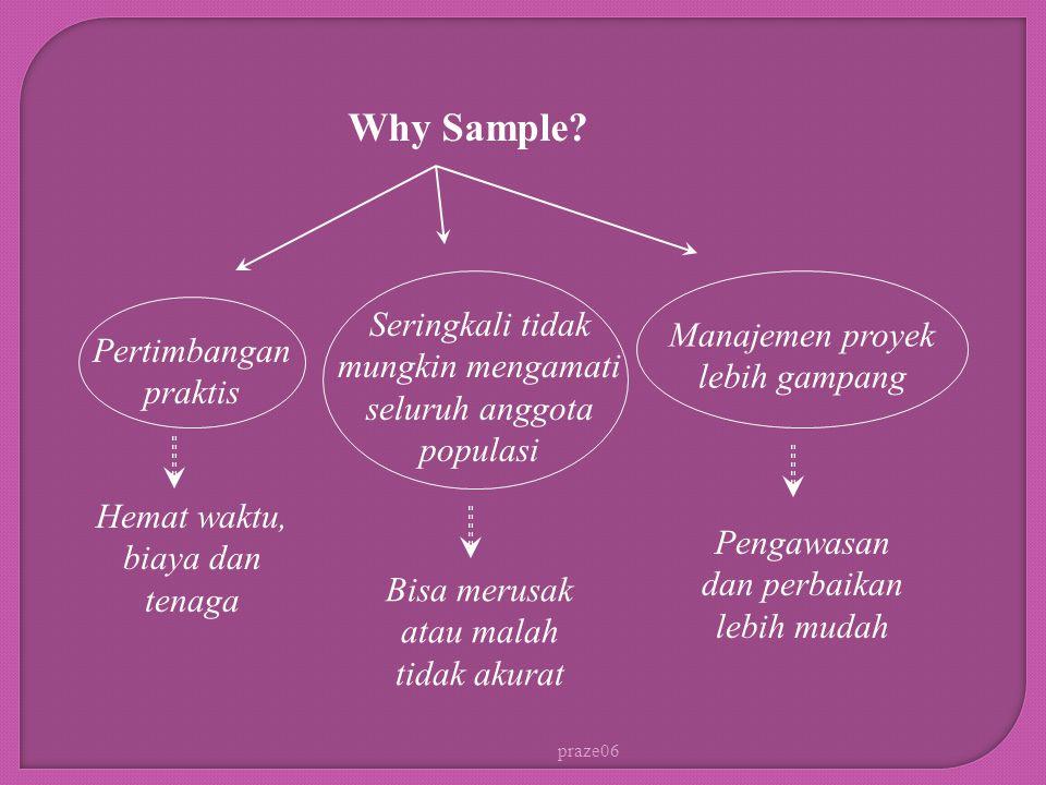 Why Sample Seringkali tidak mungkin mengamati seluruh anggota populasi. Manajemen proyek lebih gampang.