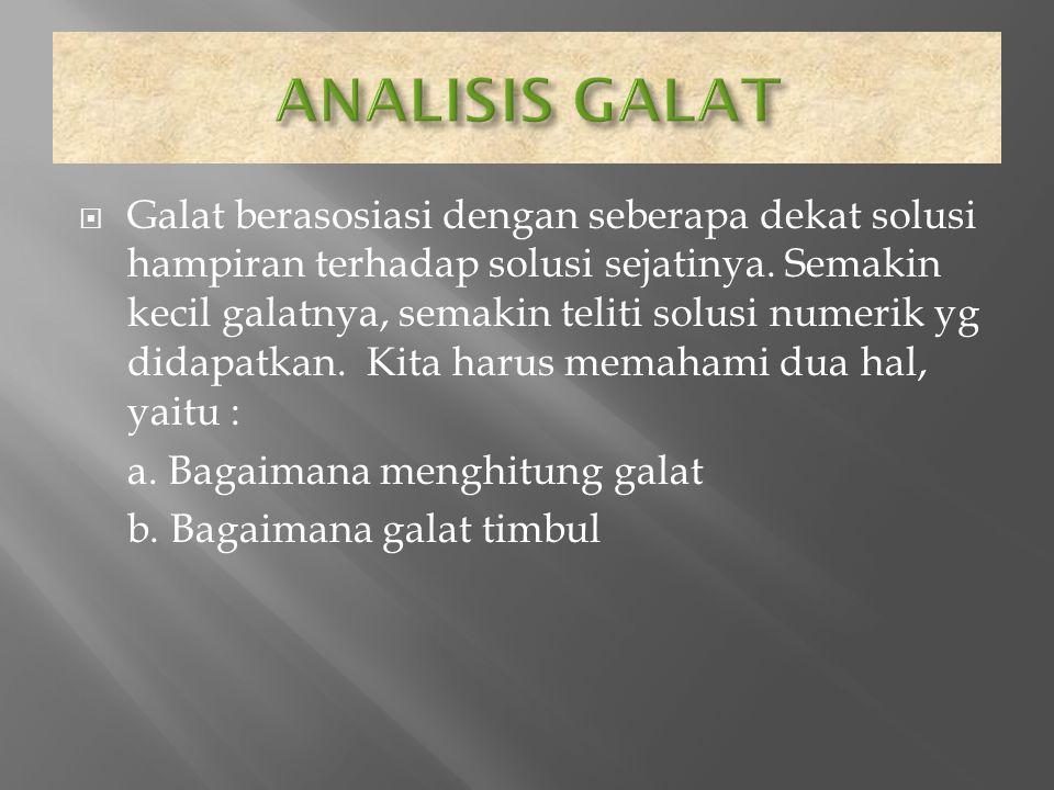 ANALISIS GALAT