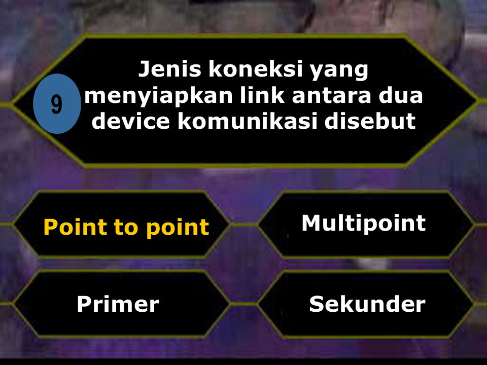 Jenis koneksi yang menyiapkan link antara dua device komunikasi disebut