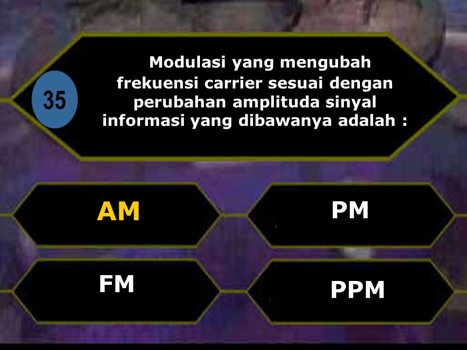 Modulasi yang mengubah frekuensi carrier sesuai dengan perubahan amplituda sinyal informasi yang dibawanya adalah :